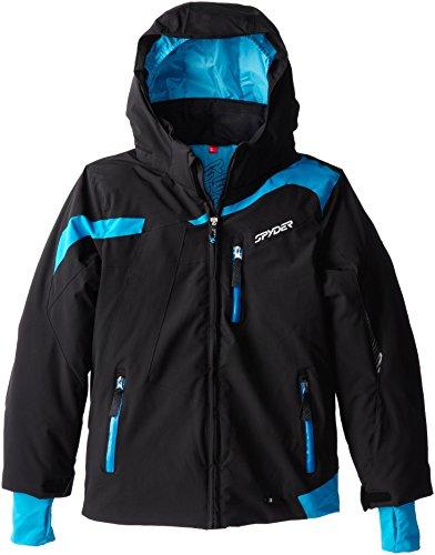 Spyder Boys Rival Jacket, 10, Black/Electric Blue/Electric Blue