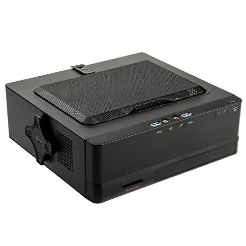 IN WIN BQ 656 - Boîtier Desktop Mini ITX Noir avec alimentation 120W - USB3.0 - Lecteur de cartes 3 en 1 - eSATA