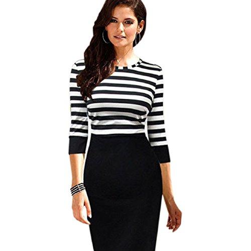 malloom-women-lady-splice-slim-striped-bodycon-formal-occasion-pencil-dress