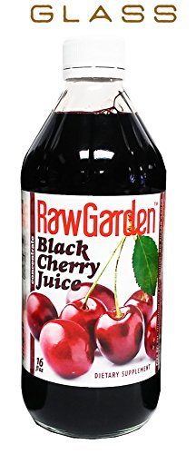 Raw Garden Black Cherry Juice Concentrate 1 Pack 16 OZ Glass Bottle. (Dark Cherry Juice Concentrate compare prices)