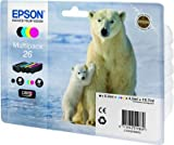 Epson C13T26164010 - 26 Multipack - 4-pack - black, yellow, cyan, magenta - original - ink cartridge - for Expression Photo XP-760, 860, Expression Premium XP-510, 520, 600, 620, 625, 720, 800, 820