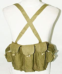 Chinese Type 56 Ak Chest Rig Ammo Pouch-31144 by china Army