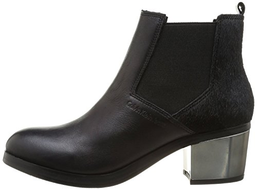 Scarpe Tronchetto Donna Calvin Klein Mod. Izzy Baby Calf/Pony RE9012 Col. Nero (35).