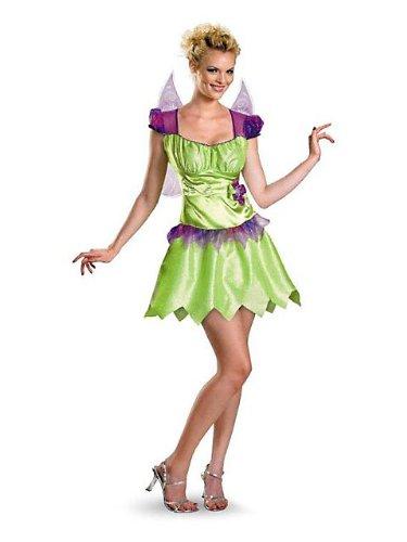Womens Classic Disney Tinker Bell Rainbow Costume M (Womens Tinkerbell Costume)