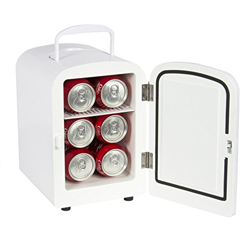 Portable Mini Fridge Cooler and Warmer Auto Car Boat Home Office AC & DC White (Amplifier Fridge compare prices)