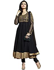 Beautiful Black Georgette Anarkali Suit