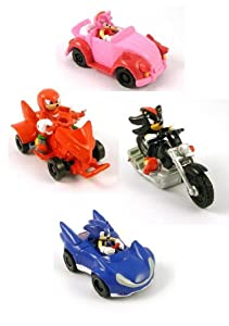 """Sonic the Hedgehog 2"""" Pullbacks Racer Cars - Set of 4 (SONIC , KNUCKLES , SHADOW & AMY)"""