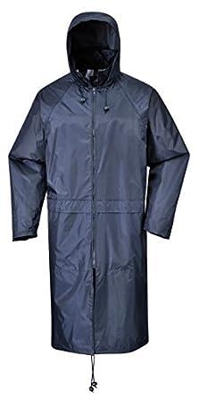 Portwest S438 - Classic Adult Rain Coat - Navy Blue / Small