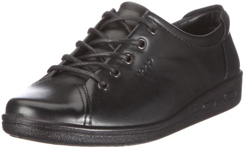 Ecco Alsosoft Lace Up Casual Shoe 9473 Black Leather 8 UK