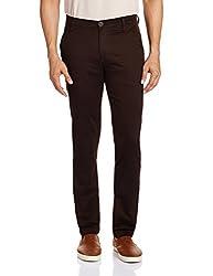 Blumerq Men's Slim Fit Jeans (8907041096394_BOURNE A 1502W_34_203A Dark Brown)