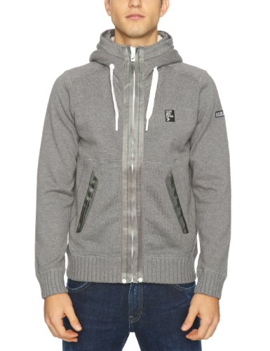 Duck And Cover Orrin Men's Jumper Mid Grey Marl Large