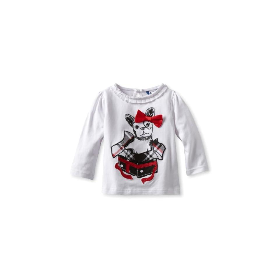 Hartstrings Baby Girls Dog Present Motif Long Sleeve T Shirt