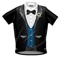 Primal Wear Ritz Tuxedo Cycling Jersey with Blue Vest - 2XL