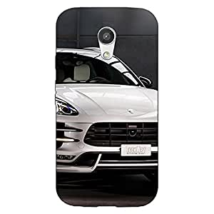 Jugaaduu Super Car Porsche Back Cover Case For Moto G (2nd Gen)