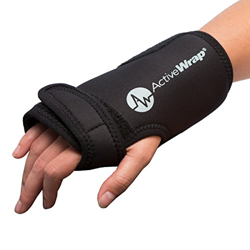 Hand and Wrist Heat/Cold Therapy Wrap - Reduces Wrist Pain and Swelling. Ideal For Both Left and Right Hand Use. Allows Mobility While Icing and Heating Compression Is Applied. BAWH007 By ActiveWrap (Kids Shark Bracelet compare prices)