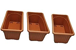 First Smart Deal Royal Rectangular Plastic Planter - Pack of 3