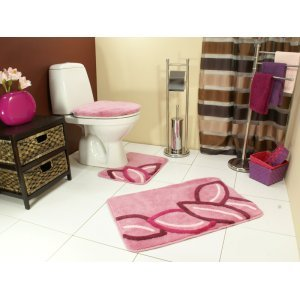 Bathroom Mat Lid Cover Toilet Rug Set 3 Piece New Kitchen Home