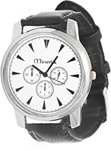 Jack Klein Synthetic Leather White Analog Round Wrist Watch