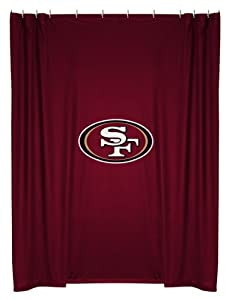 San Francisco 49ers Shower Curtain (72x72) NFL by Sports Coverage