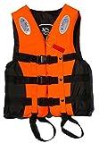 ライフジャケット ORL フローティングベスト 子供用 大人用 S M L XL XXL (オレンジL(体重60kg以下))