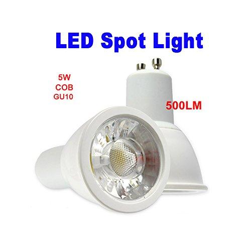 Mudder® Gu10 5W Cob 3000K 450-500Lm Led Warm White Light Acrylic Spotlight Lamp Bulb 86-265V