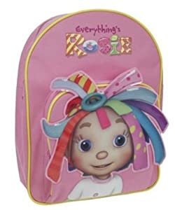 Trade Mark Collections Everything's Rosie Backpack with Front Pocket and 3D Ribbons