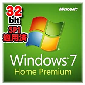 Windows7 Home Premium 32bit SP1 DVD OEM DSP ��{��Ł{���Ã�����
