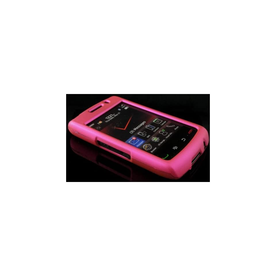 HOT PINK Hard Plastic Cover Matte Case for Blackberry Storm 2 9550 w/ Free Screen Protector