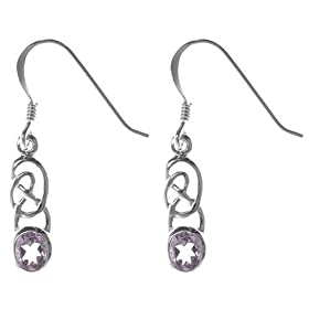 Amazon - St Silver Amethyst Celtic Design Earrings - $9.99