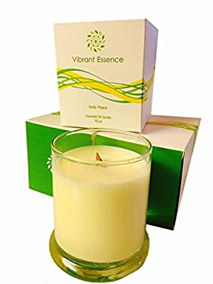 Aromatherapy Stress Relief Candle scented with luxurious aromas of Frankincense, Myrrh, Lavender and other Natural essential oils. Ideal for bath, spa, and relaxing after work. by Vibrant Essence