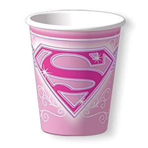 Supergirl Cups - 8 Count (9 oz.)