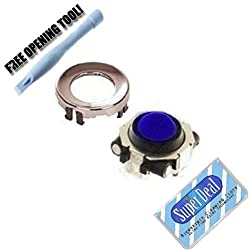 Royal Blue Blackberry Trackball / Joystick / Navigate / Pearl / Ring Repair Replacement Fix Fixing for Rim Blackberry Pearl 8100 8130 Curve 8300 8310 8320 8800 8820 8830 Plus Opening Tool with Exclusive FREE Complimentary Super Deal Micro Fiber Cleaning Cloth