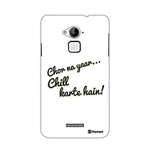 Customizable Hamee Original Designer Cover Thin Fit Crystal Clear Plastic Hard Back Case for Coolpad Note 3 Lite / Cool Pad Note Three Lite (chill)