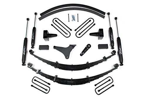Zone Offroad Ford F250 F350 6-Inch Full Suspension Lift Kit Zone Offroad Top Rated with Black Nitro Shocks (Ford 6 Lift Kit compare prices)