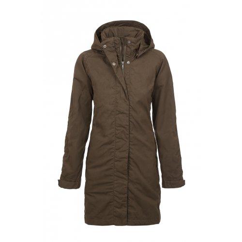 Fjäll Räven Una Jacket, Damen Mantel, 633 dark olive - L