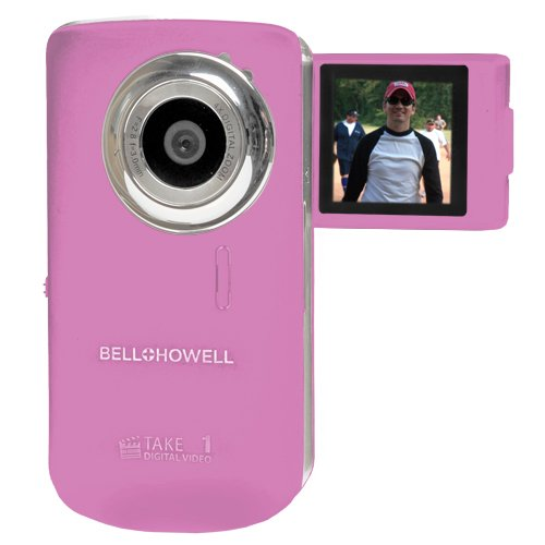 Bell+Howell Take 1 Digital Video Camcorder with  1.5-Inch Flip Out LCD Screen and Flip US (Pink)