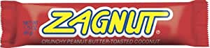 Zagnut Candy Bar, Crunchy Peanut Butter-Toasted Coconut, 1.75-Ounce (Pack of 24)