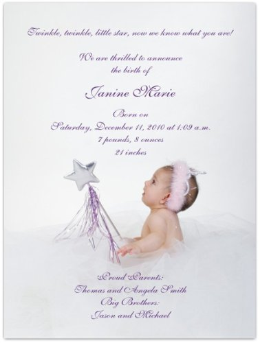 Baby Girl Photo Birth Announcements front-593602