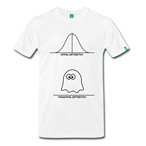 0acc37b20c0 Spreadshirt Men s Paranormal Distribution... T-Shirt white XL Price! -  tureffi usa