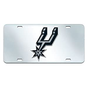 FANMATS NBA San Antonio Spurs Plastic License Plate (Inlaid) by Fanmats