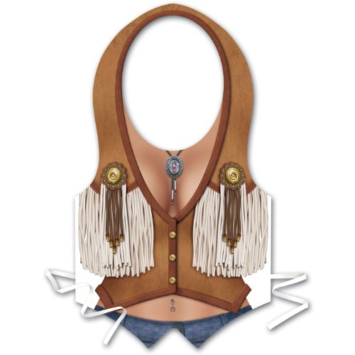 Plastic Cowgirl Vest Party Accessory (1 count)