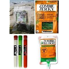 Zombie Apocalypse Survival Kit with Zombie Jerky, Zombie Skin (Nori), Zombie Blood... by Harcos