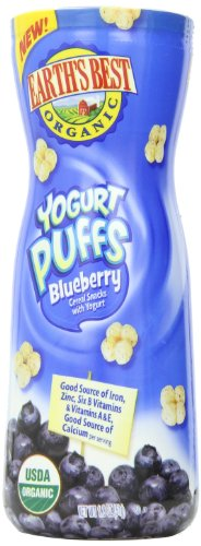 Earth's Best Organic Yogurt Puffs, Blueberry, 1.8 Ounce (Pack of 6) - 1