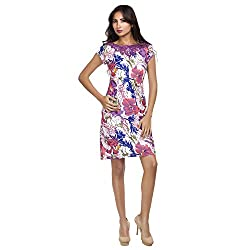 MansiCollections Women's A-line Purple Dress (X-Small)