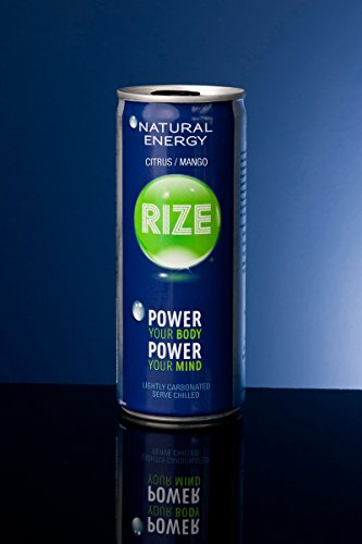 Rize Natural Energy Drink - Citrus Mango - Sweetened With Trehalose, 8.4 Ounce Can (Case Of 24) - Look At The Comparison Chart