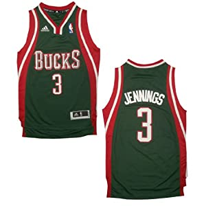 NBA MILWAUKEE BUCKS JENNINGS #3 Youth Pro Quality Athletic Jersey Top with... by NBA