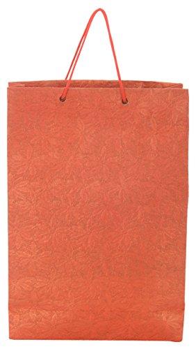 Utsav Kraft Paper 3 Ltrs Red Reusable Shopping Bags (pack Of 10) - B01LXT4J9K