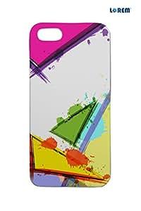 Lorem Back Cover For Apple iPhone 5/5S -Multicolor-L14425
