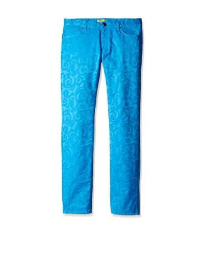 Versace Jeans Men's Jacquard Slim Fit Jeans