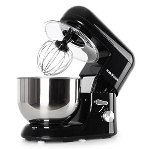 Klarstein TK2-Mix8-B Bella Nera Küchenmaschine 1200 W, 5 Liter
